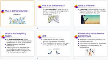 What is Entrepreneurship - Powerpoint Lesson