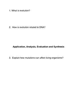What is Evolution? Common Core activities