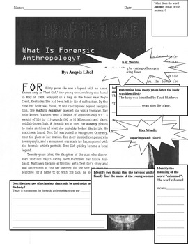 What is Forensic Anthropology? Non-Fiction Article