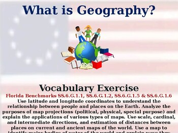 What is Geography? - Vocabulary Exercise