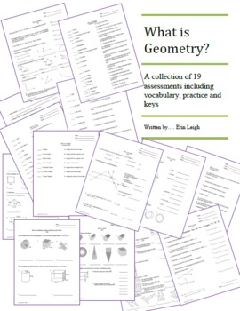 What is Geometry?  A collection of assessments