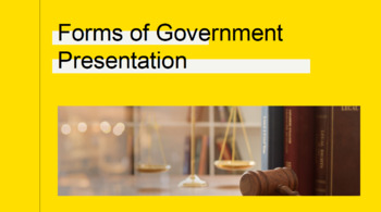 What is Government/Forms of Government Unit