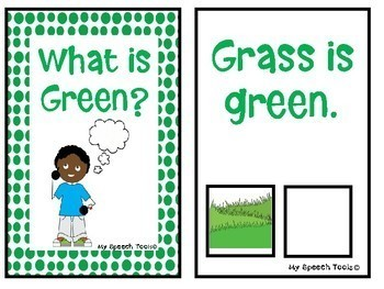 """""""What is Green?"""" An Adapted Speech Therapy Book About Colors"""
