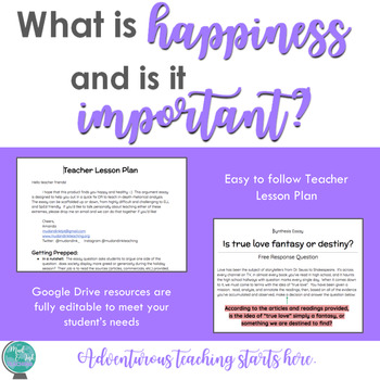 What is Happiness and is it Important? {A Inquiry-Based Synthesis Essay}