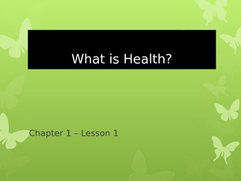What is Health?  Health Triangle