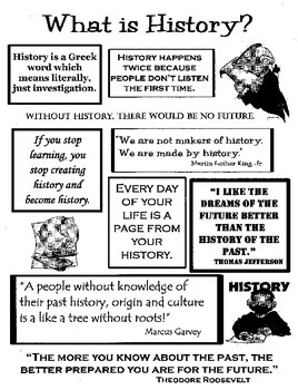 What is History? - Cover for History Curriculum