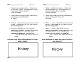 What is History? Handout