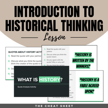 What is History? Historical Thinking Lesson Plan - Get History Students Excited!