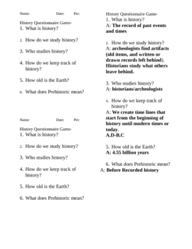 What is History Questionaire