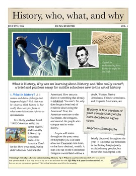What is History; US