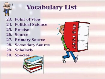 What is History? - Vocabulary Exercise