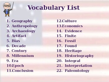 What is History? - Unit Vocabulary Exercise