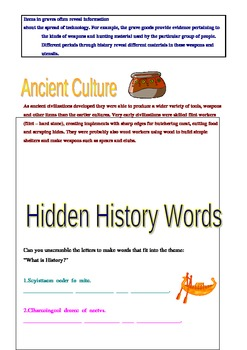 What is History worksheet