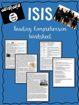 What is ISIS? Informational Text Reading Comprehension Worksheet; terrorism