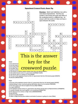What is Impeachment: Reading Passage, Word Search & Crossword Puzzles