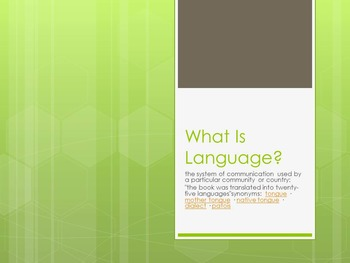 What is Language? Bundle