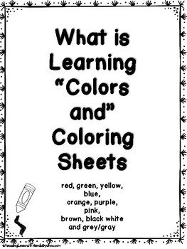 What is Learning Colors and Coloring Sheets