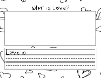 What is Love? writing paper