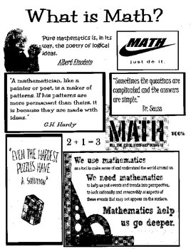 What is Math? Cover for Math Notebook