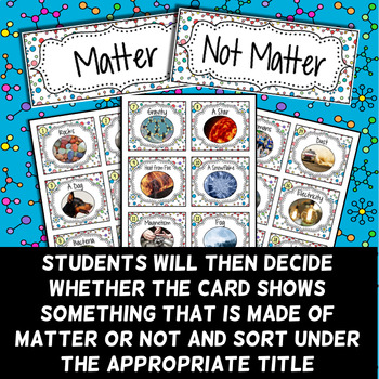 Matter Card Sort - Introduction to Matter Activity