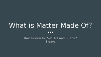 What is Matter Made Of? (Unit 2, Part 1)