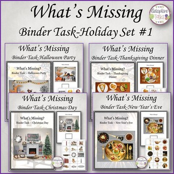 What is Missing Binder Set-Holidays #1