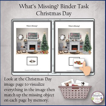 What is Missing? Binder Task-Christmas Day