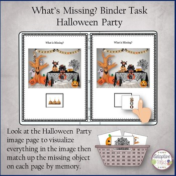 What is Missing? Binder Task-Halloween Party