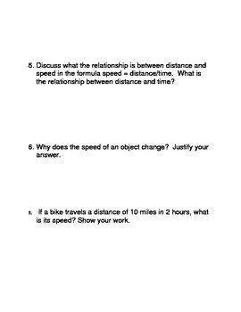 What is Motion?  Common Core Reading and Writing Activities