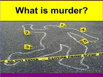 What is Murder? Constructing Arguments of judgment