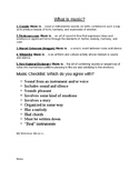What is Music? Worksheet