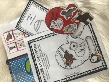 What is ON the Mitten?  An Interactive Activities for Speech Therapy