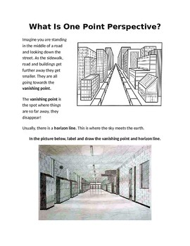 What is One Point Perspective? Handout