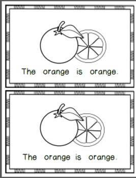 What is Orange? Emergent Reader