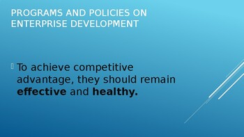 What is Organizational Development a topic in Program and Policies