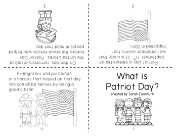 What is Patriot Day Little Foldable Book FREEBIE