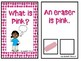 What is Pink? An Adapted Speech Therapy Book About Colors