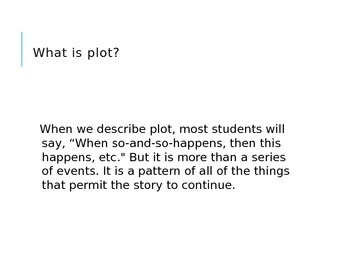 What is Plot?  Powerpoint