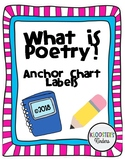 What is Poetry? Anchor Chart Labels