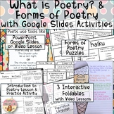 What is Poetry & Forms of Poetry- Interactive Video Lessons Google Slides