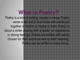 What is Poetry? Power Point