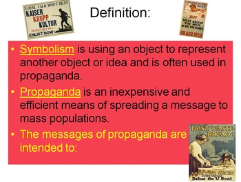 What is Propaganda?: A Propaganda Student Activity using Primary Sources
