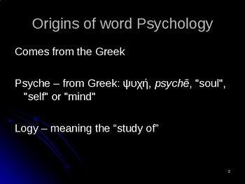 What is Psychology? (Power Point)