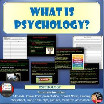 What is Psychology? Power Point Lecture & Reading Guide (Print and Digital)