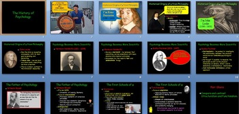 The History of Psychology Power Point, worksheet and Quiz (Grades 9-12)