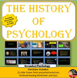 The History of Psychology Power Point, worksheet and Quiz