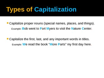 What is Punctuation and Capitalization?