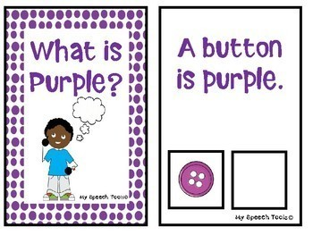 What is Purple? An Adapted Interactive Book for Emergent Readers