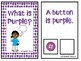 What is Purple? An Adapted Speech Therapy Book About Colors