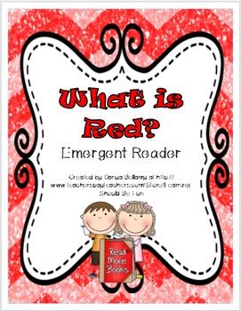 What is Red? - Emergent Reader Freebie